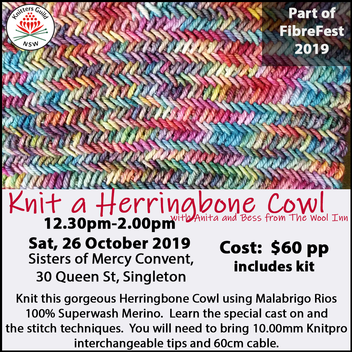 HerringboneCowl workshop