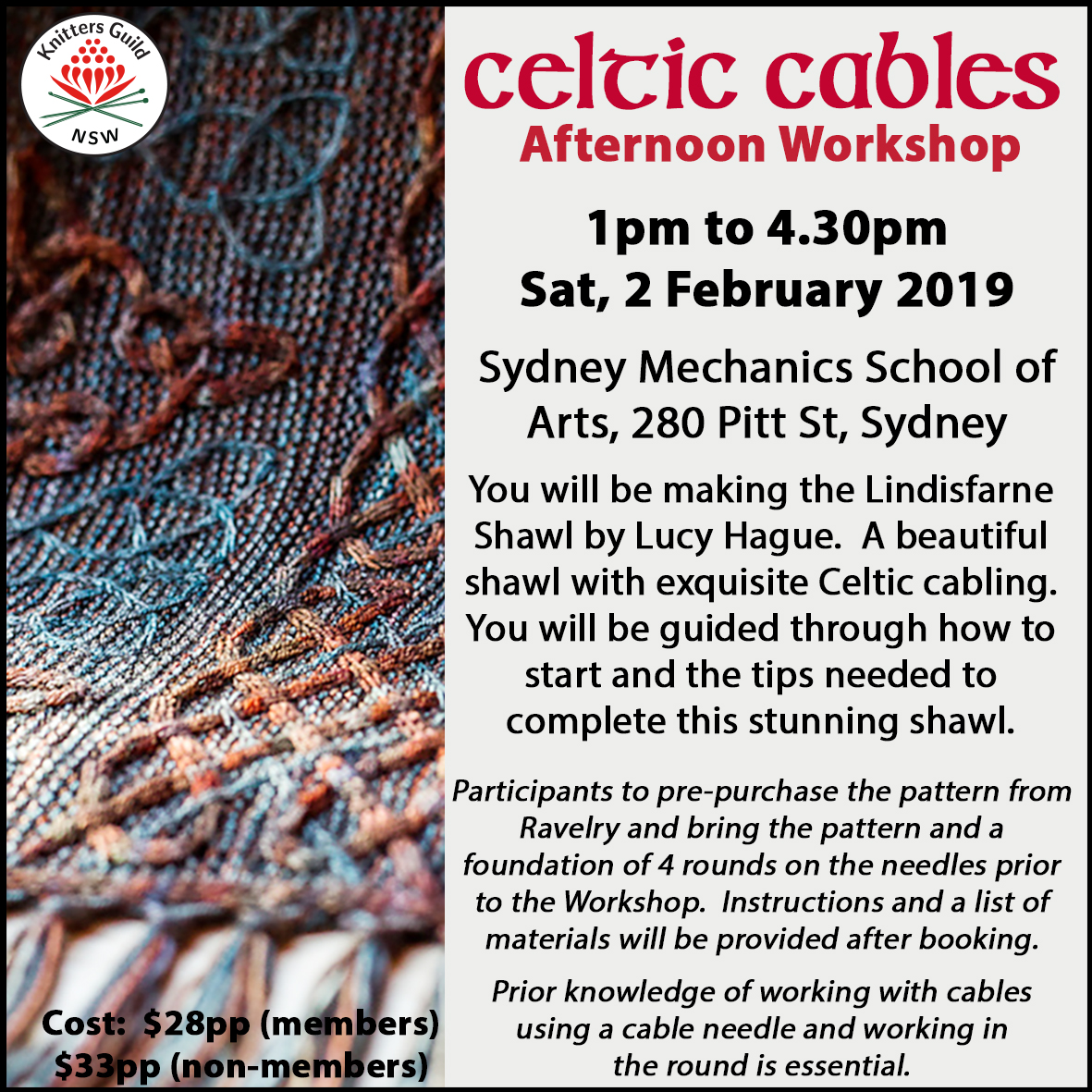 Celtic Cables afternoon workshop