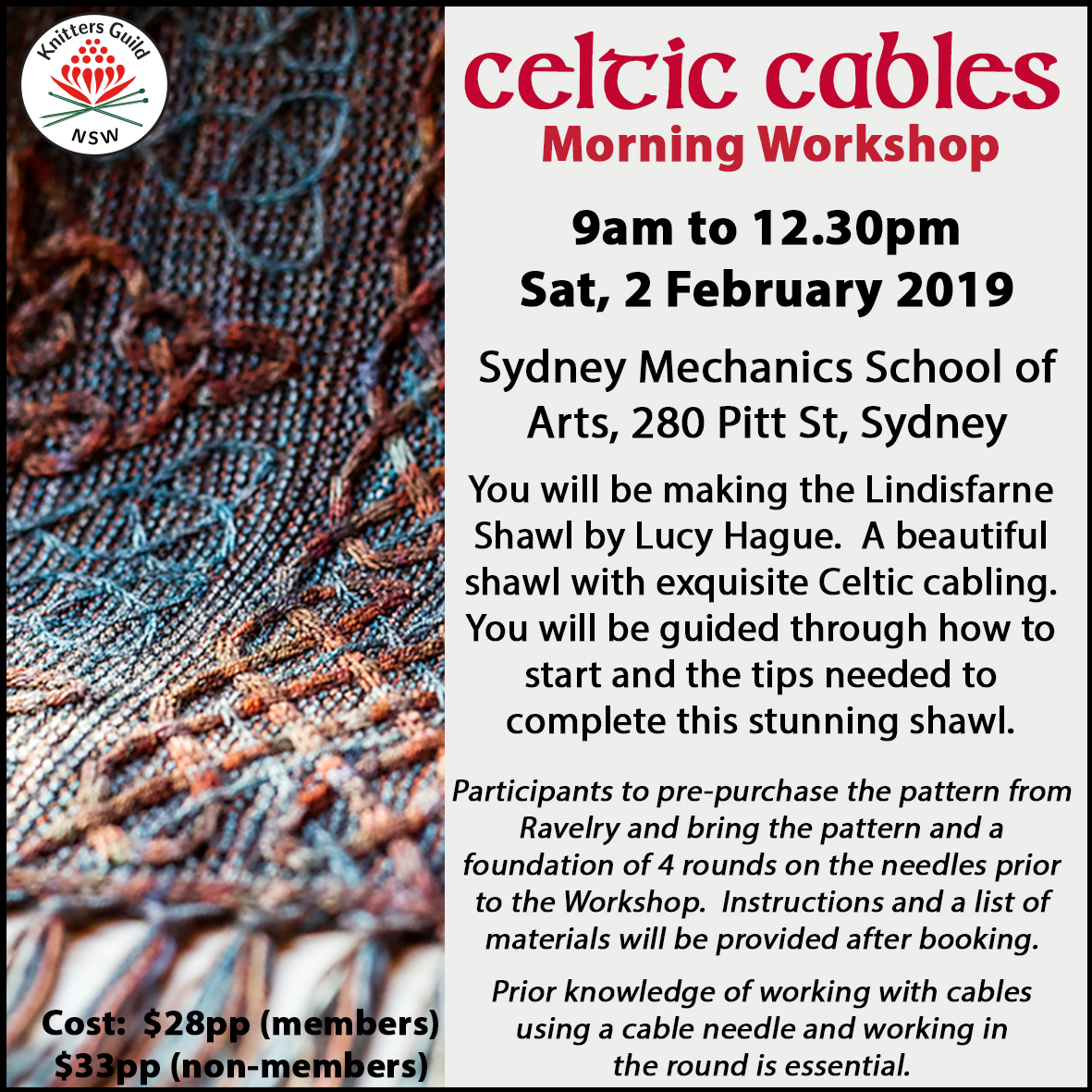 Celtic Cables morning workshop