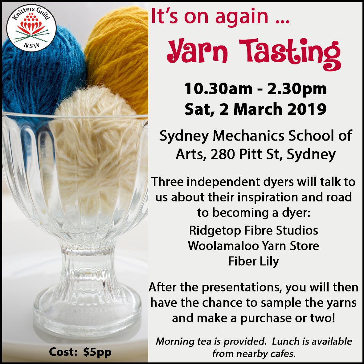 Yarn Tasting workshop