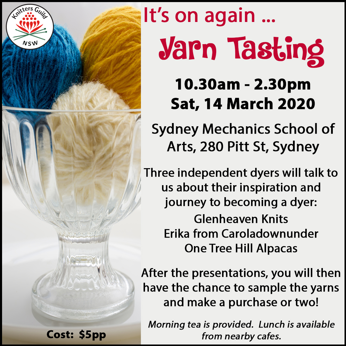 Yarn Tasting workshop 140320